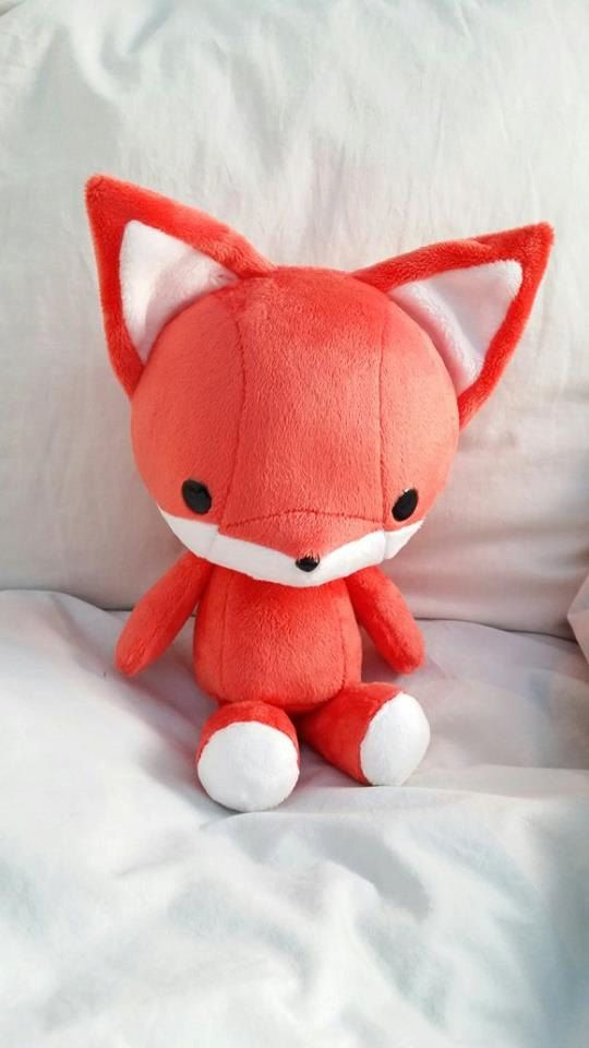 Cute Bellzi Orange w/ White Contrast Fox Plushie Doll 11 inch - Foxxi on Etsy, $40.00