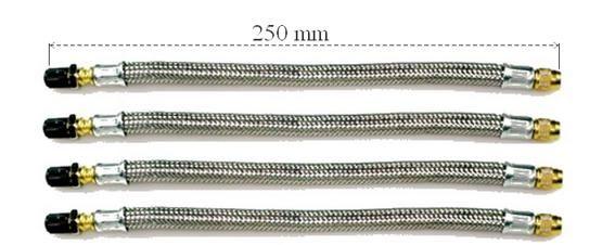 Details Zu 4x Ventilverlangerung Flexibel Stahlflex 250mm Kfz