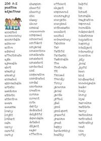 Bucket filling activities: FREE alphabetical list of 236 positive adjectives students can use to describe their classmates when they practice writing little notes of praise.  Perfect for bucket-filling.