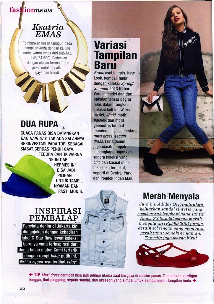 (X)S.M.L Gold Necklace is appeared on Joy Indonesia - June 2013