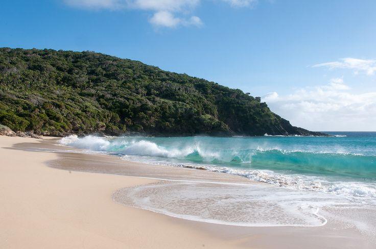 Empty beach on Lord Howe Island, Australia