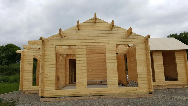 Residential Log Cabin Build In Dublin Ireland