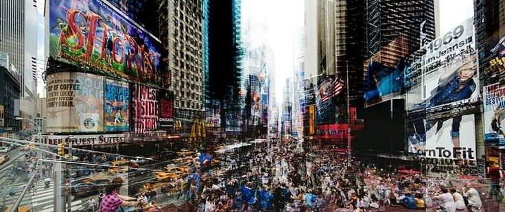 Times Square At 5 - Laurent Dequick
