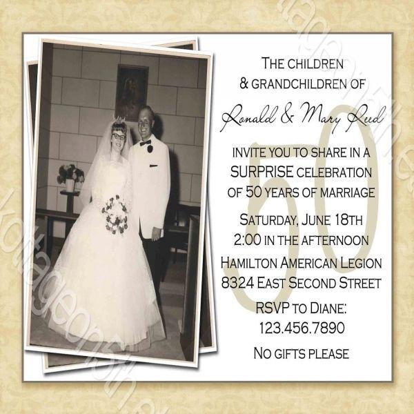 Best 25+ 50th wedding anniversary invitations ideas on Pinterest ...