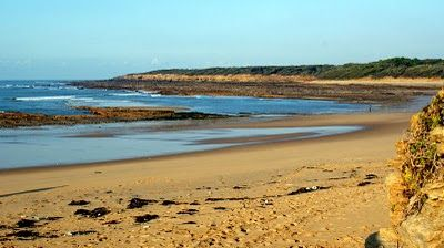 L'océan à la plage de la Mine de Jard sur Mer en Vendée