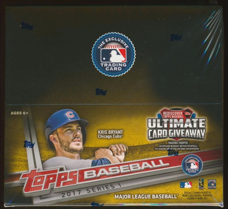 Baseball Cards 213: 2017 Topps Mlb Series 1 Baseball Trading Cards Sealed 24-Pack Retail Box -> BUY IT NOW ONLY: $50 on eBay!