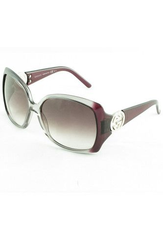 Authentic Gucci GG 3503 WOU Clear to Purple Sunglasses Grey 60mm Lens 20 | eBay