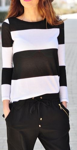 Black and White: This trend has been popping up everywhere this season! I love the simplicity of the style and the togetherness effect the colors produce! Gotta love the basics!