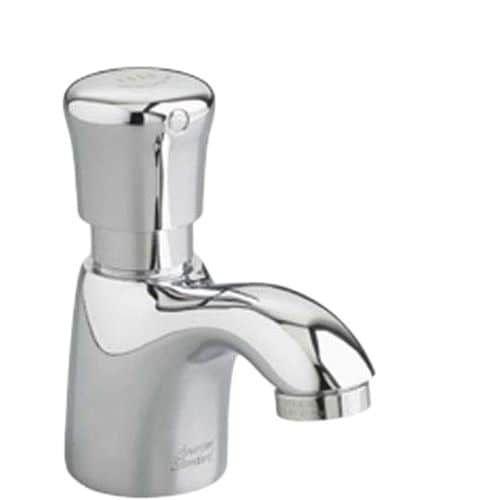 American Standard 1340.107 Pillar Tap Single Hole Metering Faucet, Silver stainless steel