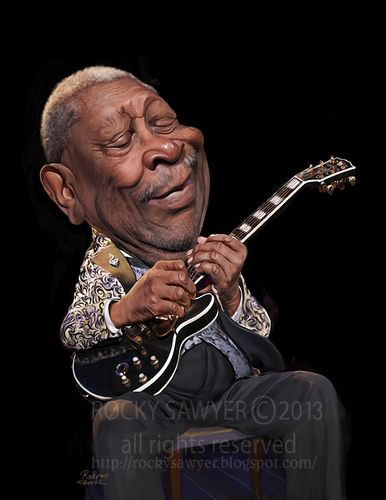 BB King [by rocksaw] #Caricature #FunnyFaces