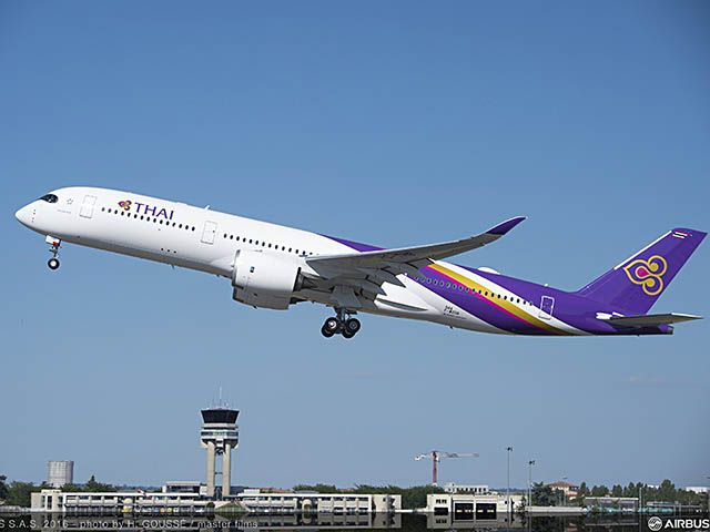 Bruxelles accueillera l'A350 de Thai Airways