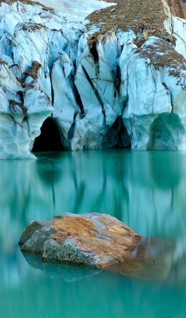 * Turquoise Angel Glacier Reflection, Jasper National Park - Angel Glacier is at the end of Edith Cavel Road.
