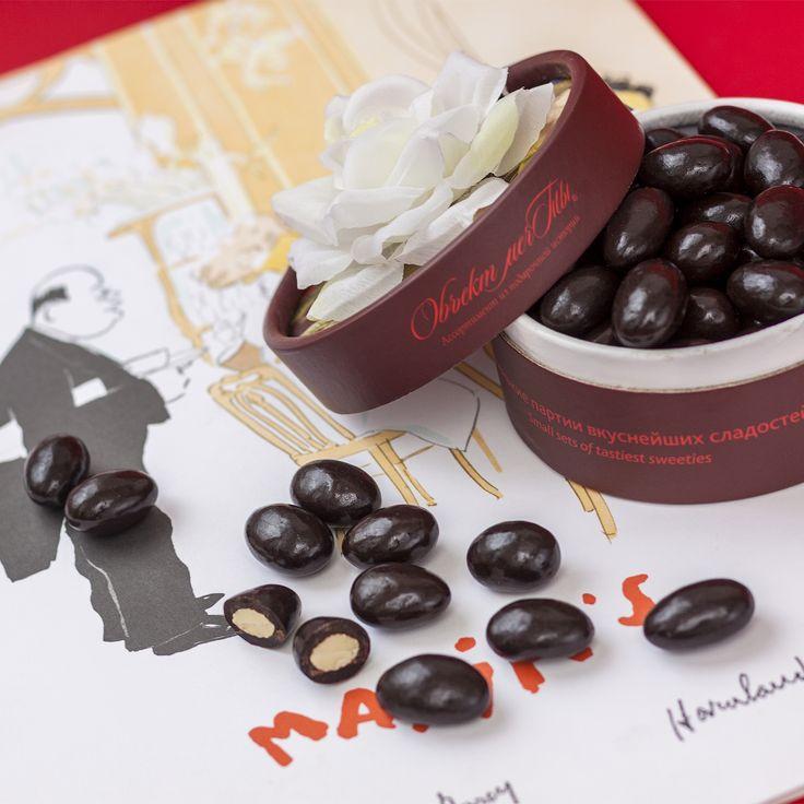 Драже «Миндаль в шоколаде» - деликатесное сочетание цельного миндального ореха и темного шоколада. Шоколад волшебно оттеняет вкус хрустящего горьковатого миндального орешка. Создайте идеальную атмосферу для дружеского общения!  #подарок, #подарки, #драже, #десерт, #миндаль, #шоколад, #сладости, #dessert, #dregee, #almond, #chocolate, #sweets, #sweeties, #sweetmeat, #gift, #sweetgifts, #gifts, #objectmechty