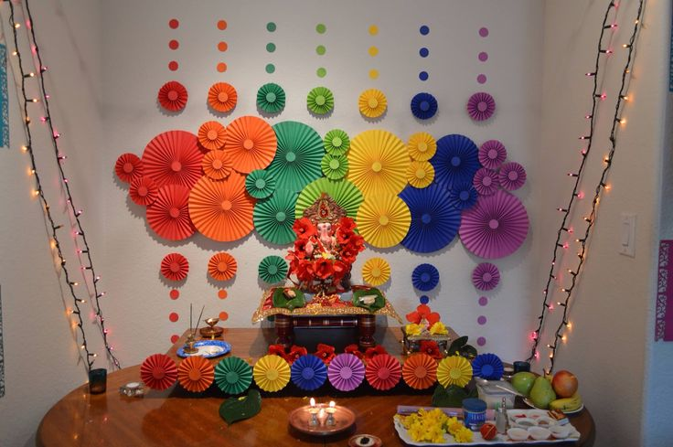 16 best images about ganpati decoration on pinterest for Decoration ganpati