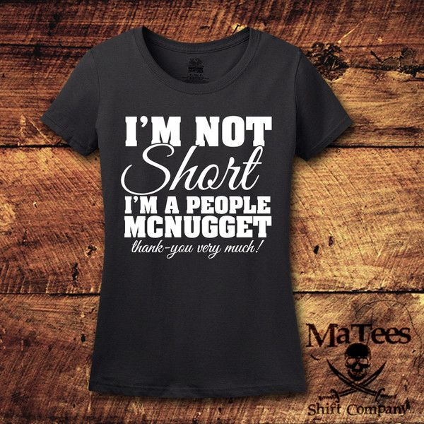 Im Not Short People Mcnugget Short Girl Short Girl Shirt Graphic Tee... ($15) ❤ liked on Polyvore featuring tops, t-shirts, red, women's clothing, pattern t shirt, graphic print t shirts, red checked shirt, checkered t shirt and red checkered shirt