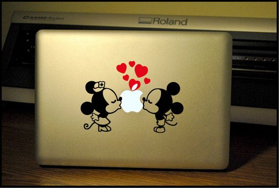 Minnie Mouse Kissing: Macbook Pro/Air LAPTOP/ iPad/ iPad Mini Decal/Sticker on Etsy, $7.99