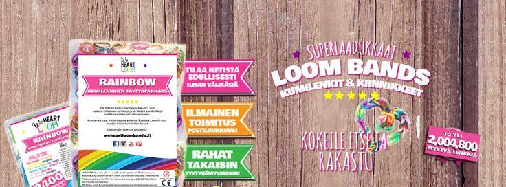 Superlaadukkaat #loombands -kuminauhat #askartelu'un - Tee itse värikkäitä rannekkeita ja paljon muuta! Koukuttavaa ja ERITTÄIN hauskaa!
