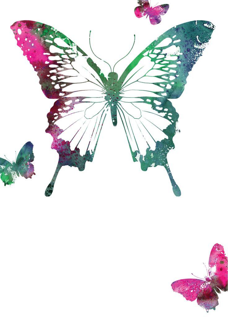 Butterflies Free Printable Birthday Invitation Template