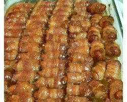 Game Day Bacon Wrapped Smokies