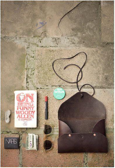SM. leather folio by FieldTheories on Etsy
