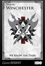 I dont get the game of thrones reference but I do get the supernatural one and love it.