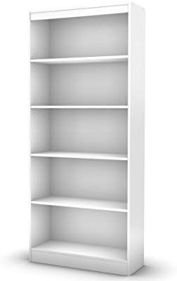 Amazon South Shore 5 Shelf Storage Bookcase Pure White Kitchen