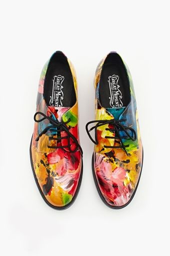 Jeffrey Campbell Daltrey Oxford - in floral patent leather