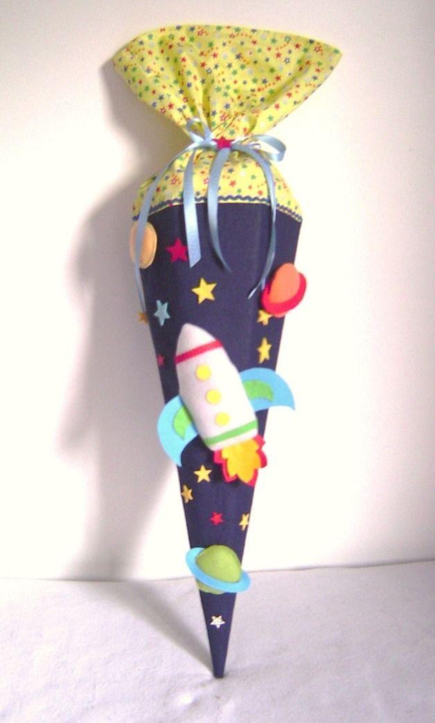 Schultüten – Schultüte*RAKETE*Zuckertüte*Schulanfang*Weltall – ein Designerst… – Kerstin Zwingel