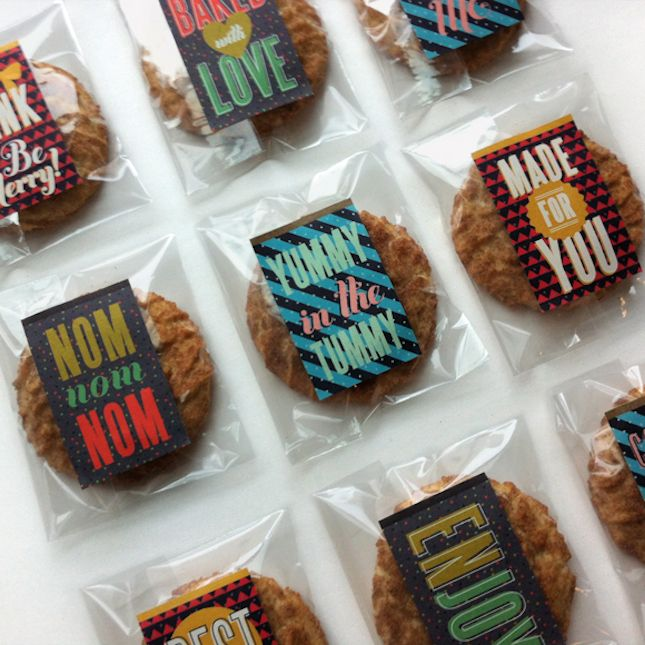 Baked Goods Gift Tags: Ease your mind and clear your thoughts. There's no guesswork in food gifting with these retro-cool free printable bak...