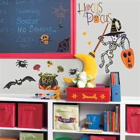 york roommates happy halloween peel u0026 stick wall decals multi home decor wallpaper wall decals