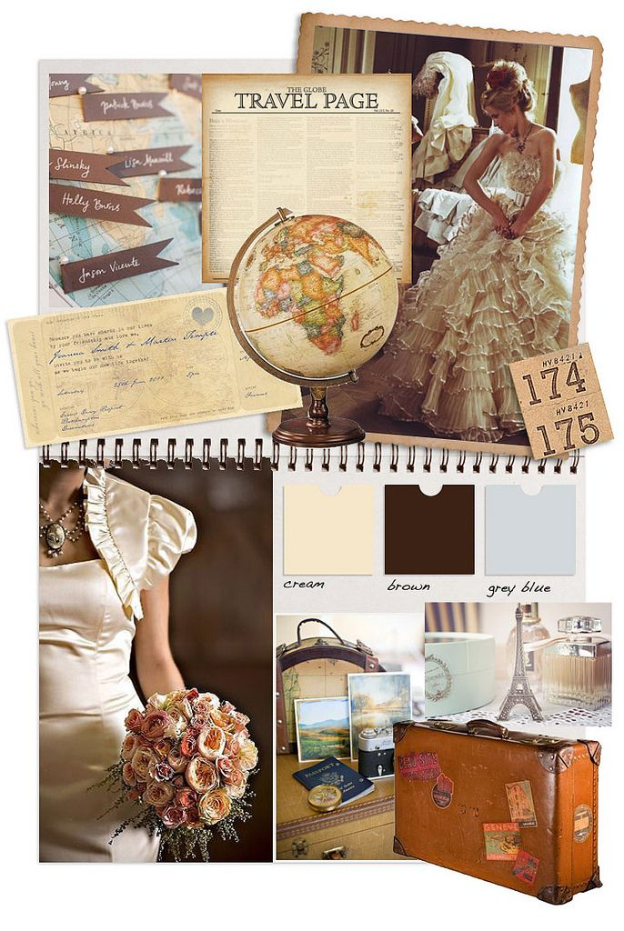 vintage travel wedding inspiration