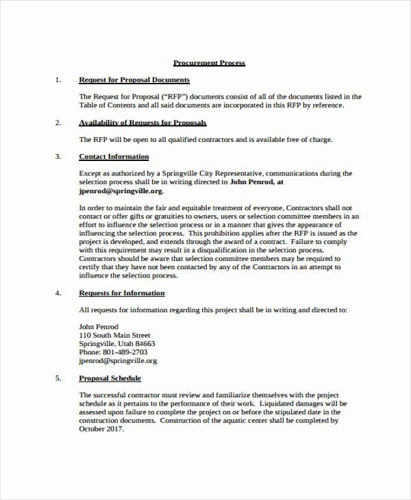Simple Request For Proposal Example Inspirational 18 Construction Project Proposal Templates Fr Proposal Example Request For Proposal Project Proposal Template