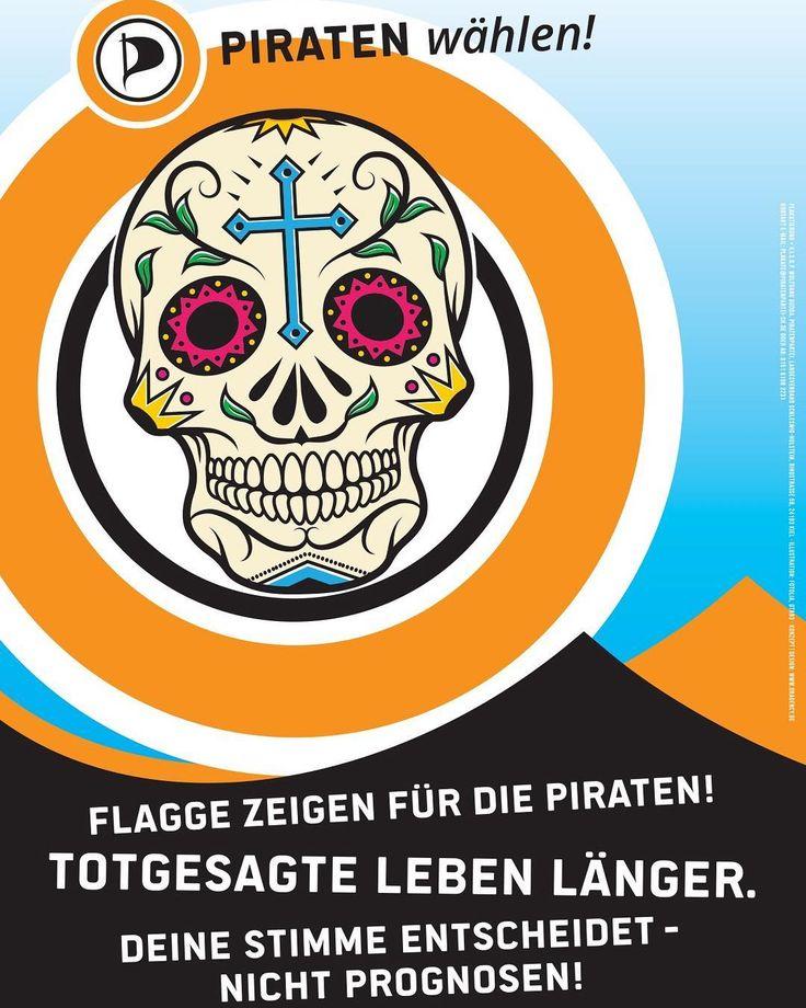 Heute wählt SH. Wir drücken Piratenpartei SH die Daumen: bleibt die Zecken am Hals von Stegner Kubicki & Co!  #FlaggeZeigen #Piraten #LTWSH #ltwsh17 #smartgerecht #piraten #piratenpartei #politik #ltnrw #landtag #landtagswahl #ltw17 #ltwnrw17 #wahl2017 #nrw #nordrheinwestfalen #instagood #ig_nrw #ltwnrw