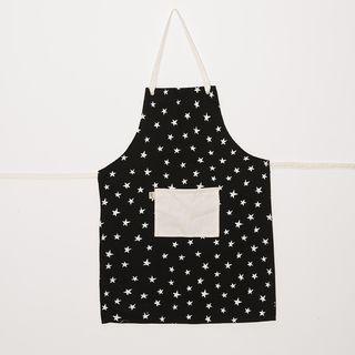 Delantal Limay, negro estrellas blancas