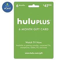 HULU 6 MONTH E-GIFT CARD
