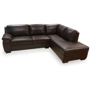 Abbyson Living London Dark Brown Bonded Leather Sectional Sofa-CI-H200-BRN at The Home Depot