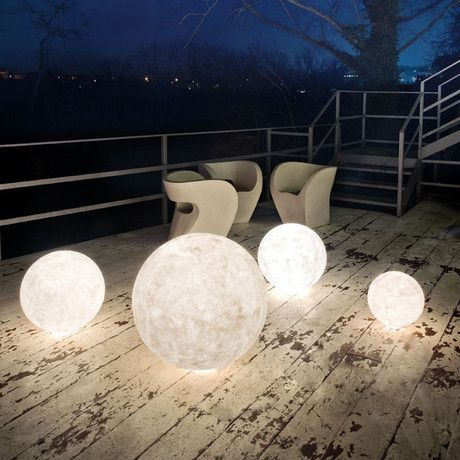 Bring the light of the moon to your favorite seating area with Ex Moon. This nebulous orb of illumination that can be tucked into a corner to create an environment of utter fantasy.