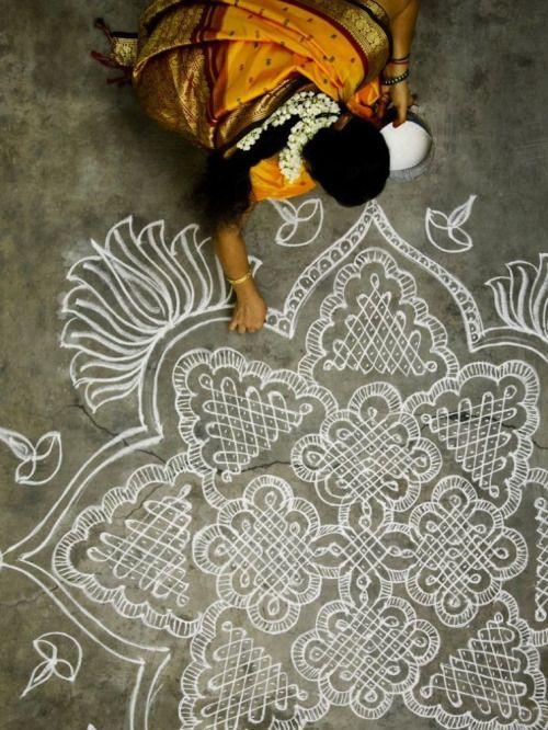 colorful yellow indian mandala traditional India bollywood holy mandalas pasion india