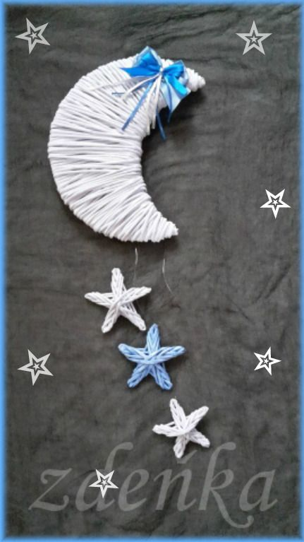 ★ měsíc s hvězdičkama ★    výška měsíce 26 cm, hvězdičky 9 a 8 cm