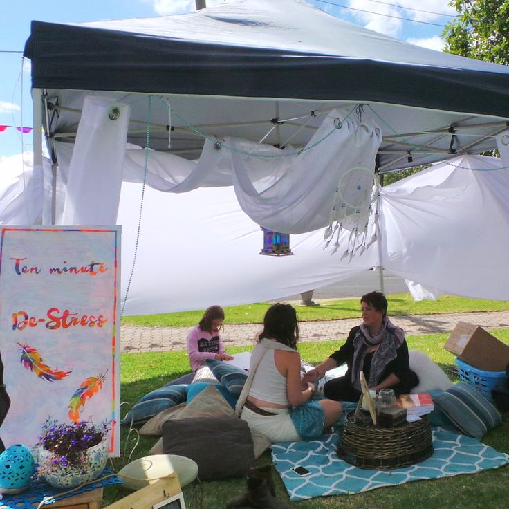 West Fest in Pakington St Geelong, West, Victoria, Australia. Think we can all relate to this De-Stress tent at this family afternoon celebration in April.