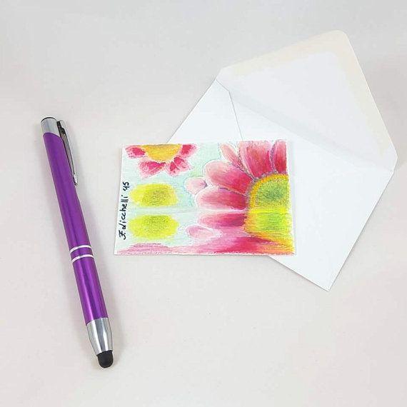 Guarda questo articolo nel mio negozio Etsy https://www.etsy.com/it/listing/464821898/fiori-fucsiaaceo-originaleooakbiglietto