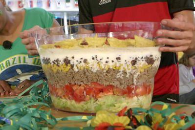 Brasilianischer Schichtsalat - Rezept