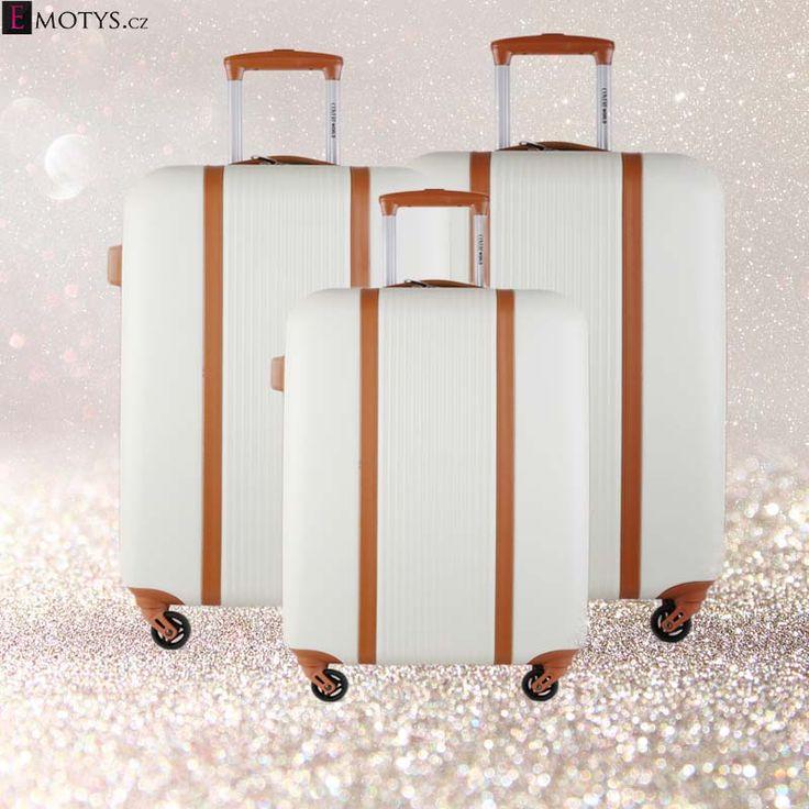 Sada cestovních kufrů za skvělú cenu. Na Emotys.cz #emotys #emotyscz #dnesnosim # cestovníkufry