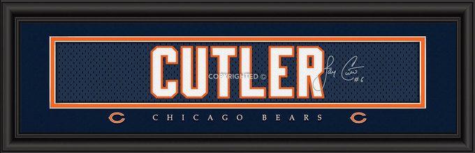 "Chicago Bears Jay Cutler Print - Signature 8""""x24"""""