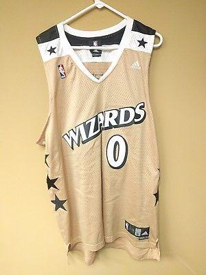 770bf695c Gilbert Arenas Washington Wizards Alternate Gold Jersey sz XL Length ...