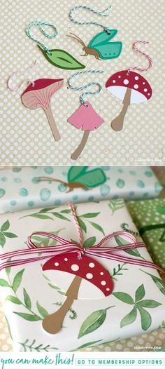 Papercut Fairy Garden Tags - www.LiaGriffith.com #papercut #Cricut #GiftTags #FairyGarden #DIYParty #DIYGift #GiftWrapping