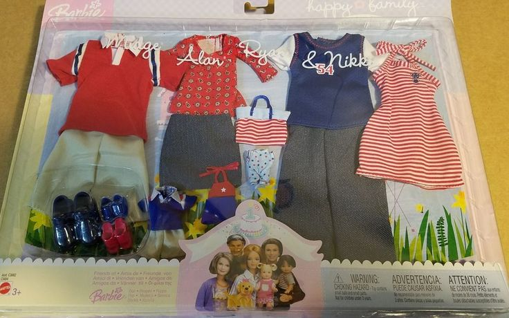 Barbie's Happy Family series  (Midge, Alan, Ryan & Nikki's clothes & shoes) #Mattel #ClothingShoes