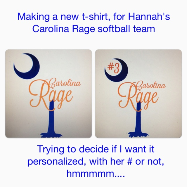 Softball shirt.... Need to decide on final design detail.