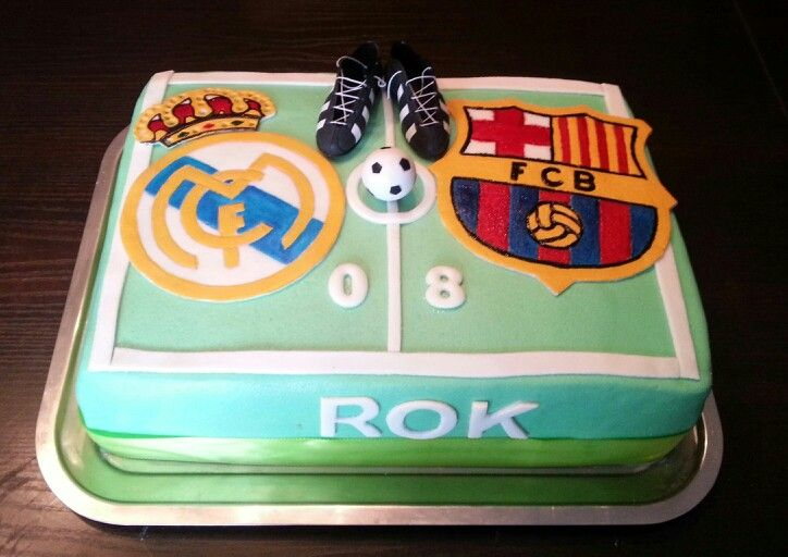 Real Madrid Vs Barcelona Cake