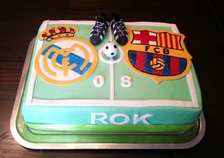 Cake Design Barcelona : Real Madrid vs. Fc Barcelona cake My cake Pinterest ...